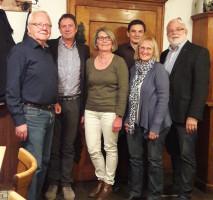 Der neue Vorstand (v.l.n.r.): Werner Endres, Franz Glas, Christa Glas, Florian Mann, Elisabetha Kory, Martin Güll.