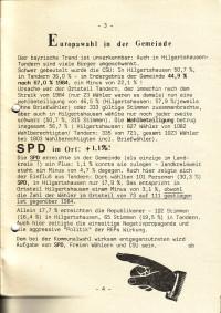 Europawahlen 1988 - in Hilgertshausen-Tandern kann die SPD zulegen