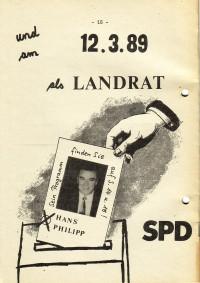 Wahlkampf für den SPD-Landratskandidaten Hans Philipp